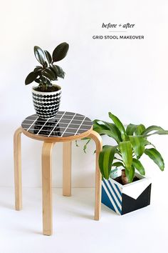 DIY grid stool makeover   Make and Tell