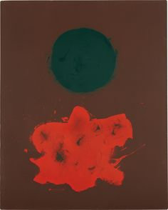 ilovetocollectart: Adolph Gottlieb - Volcanic, 1971, oil on linen, 76.8 x 61.6 cm