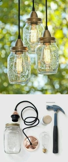 Edison Bulbs ~ Industrial and Steampunk Lighting Ideas