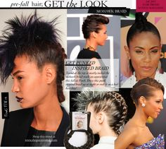fall 2013 black women hair trends mohawk braid