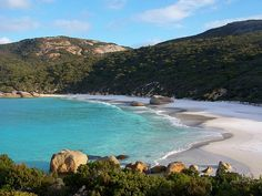 Little Beach, Albany - a beautiful, secluded beach.    Little Beach is part of the Two Peoples Bay Nature Reserve east of Albany, Western Australia.