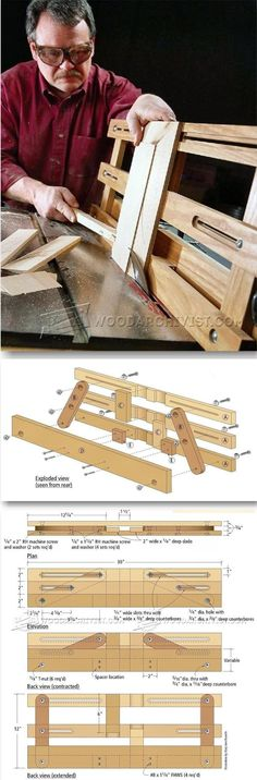 Raised Panel Table Saw Jig - Cabinet Door Construction Techniques | WoodArchivist.com