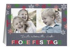 Weihnachtskarte Schneeflocken 2