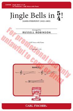Jingle Bells in 5/4! (SAB) arr. Russell Rob | J.W. Pepper Sheet Music