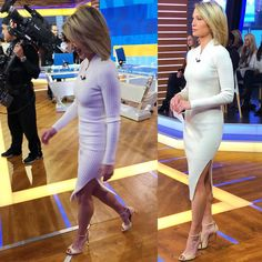 Time to break out those - wears and Winter White, Women, Dresses, Bodycon Dress, How To Wear, Style, Amy Robach, Amy, Fashion