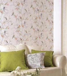 £34.77 Price per roll (per m2 £6.65), Romantic wallpaper, Carrier material: Non-woven wallpaper, Surface: Smooth, Look: Matt, Design: Leaves,…