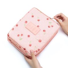 Christmas I Love Me Large Capacity Dirty and Waterproof Multi-Layer Pencil Case Pink