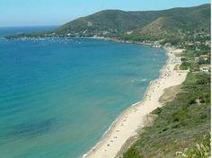 La spiaggia di Capaccio, sul mar Tirreno