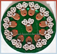 reindeer chocolate covered nutter butter cookies another idea White bark are cute for snowmen /or ghosts use candy for trimming I've done before