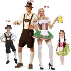 Family outfit Plus Size Oktoberfest Costume Bavarian Octoberfest German Festival Beer Cosplay Halloween Costumes for Men