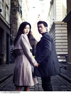 The Berlin File released a special photo showing Jun Ji Hyun and Ha Jung Woo hand in hand. In a photo released through Naver Movies on February Korean Drama Movies, Korean Actors, Jun Ji Hyun, Korean Star, Fashion Couple, Jung Woo, Celebs, Celebrities, Cute Couples
