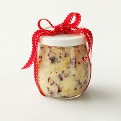 Cranberry Honey Butter.  Combine one pound softened butter, 1/2 cup chopped fresh cranberries, 1/2 cup honey (or more or less to taste), and the zest of one whole orange.  Mix well, then store in refrigerator.  Spread on breads, muffins, pancakes, waffles, etc.