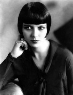 Louise Brooks.. Brooks whose short haircut and bangs is one of the symbols of the interwar period.