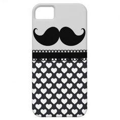 Retro Handlebar Mustache iPhone 5 Case
