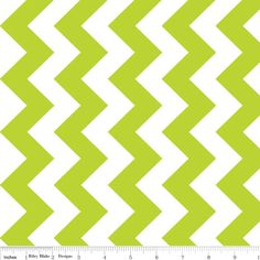 Cotton Fabric, Chevron in Lime Green and White Medium from Riley Blake Designs