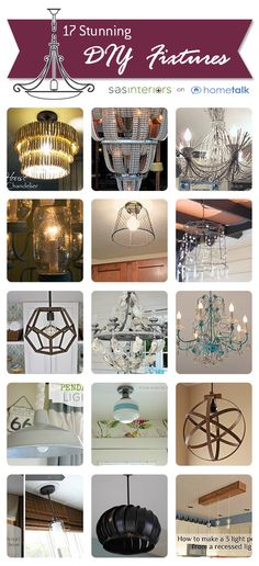 20 fabulous DIY light fixtures! Click through for full projects.