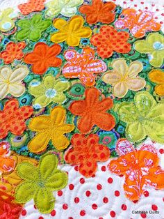 I love both applique and the quilting! From Cabbage Quilts