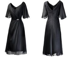 Black Knee Length Chiffon Mother of Bride Dress sold by dreamdressy. Shop more products from dreamdressy on Storenvy, the home of independent small businesses all over the world.
