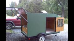 Pictures of our teardrop style trailer my son and I built using mostly salvaged materials.