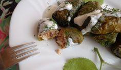 Липови #сармички с пилешко и гъби http://recepti.gotvach.bg/r-73098