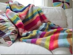 Woven stitch crochet afghan by eleanor