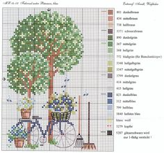 Bicycle cross stitch