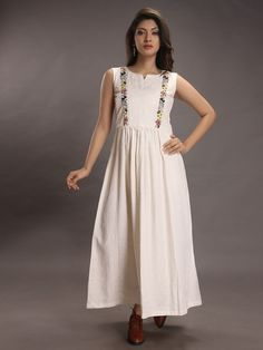 The Loom- An online Shop for Exclusive Handcrafted products comprising of Apparel, Sarees, Jewelry, Footwears & Home decor. Silk Kurti Designs, Simple Kurta Designs, Kurta Designs Women, Kurti Designs Party Wear, Indian Gowns Dresses, Indian Fashion Dresses, Fashion Outfits, Salwar Pattern, Fancy Kurti