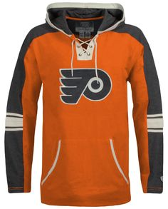 Stay warm during the game with this Philadelphia Flyers Cable Hoodie by Old Time Hockey. This heavyweight hoodie combine comfort with style while you cheer on the Flyers!        Flat embroidery Flyers logo on front      Flat embroidery Old Time Hockey logo on right sleeve      Contrast hood hem