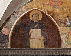 """Fra Angelico - San Tommaso d'Aquino con la Summa è una lunetta affrescata di Beato Angelico conservata nel chiostro detto """"di Sant'Antonino"""" nel convento di San Marco a Firenze. Viene datata al 1442 circa."""