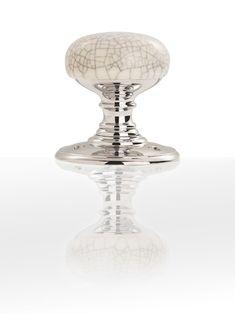 Delamain Porcelain Knob - Midnight Crackle/ Polished Chrome - DK34MCCP