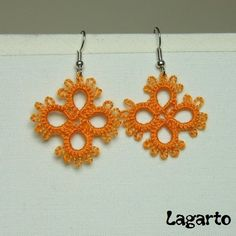 Simple tatted earrings