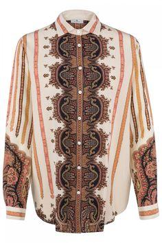 Etro Damen Seidenbluse Beige | SAILERstyle Elegant, Long Sleeve, Sleeves, Sweaters, Clothes, Tops, Fashion, Shirt Collars, Blouse