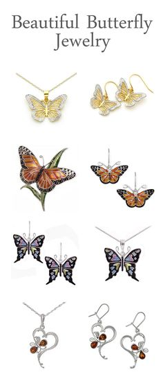 Free Shipping Everyday on our Butterfly Jewelry Collection! Gold, Silver & Cloisonne Enamel Butterfly Earrings, Necklace and Pin Styles!