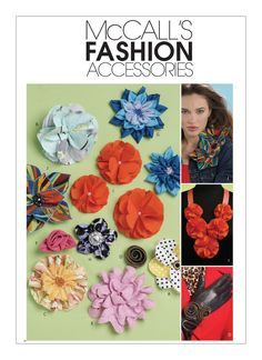 Sew & Make McCall's M6047 SEWING PATTERN - Fabric FLOWERS FASHION ACCESSORIES #McCalls