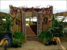 Rustic Outdoor Wedding Doors for Bride Reveal