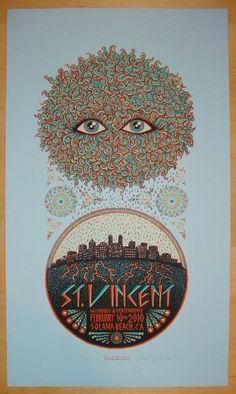 2010 St. Vincent - Silkscreen Concert Poster by Marq Spusta