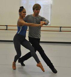Misty Copeland and Derek Hough (choreographer)