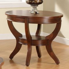 Shop Avalon Elegant Cherry Wood Shelves End Table with great price, The Classy Home Furniture has the best selection of to choose from Coffee Table With Shelf, Coffee And End Tables, Coffe Table, Wooden Dining Table Modern, Wooden Tables, Dinning Room Tables, At Home Furniture Store, Chair Side Table, Wood Shelves