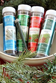 scentsicles place these thin sticks of fragrance in your artificial christmas tree or garland to