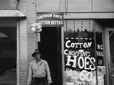 Cotton Chopping Hoes. Marianna, Arkansas; captured by Carl Mydans (1936)