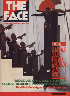 The Face Magazine No 28 August 1982 Jean Paul Goude/Grace Jones Midge Ure Culture Club Defunkt