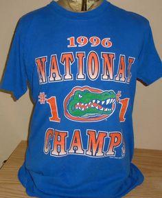 cc25368d vintage 1996 Florida Gators National champions football large blue t shirt