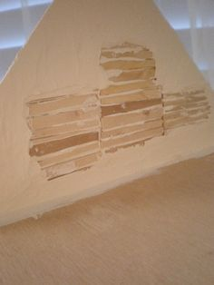 make your doll house walls look old and crumbly