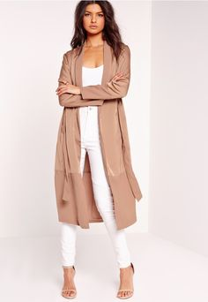 Camel and tan is the colour palette of the new season, so make sure you're keeping your style game high and mighty - just like you. Featuring a satin and chiffon material which creates a luxe two tone effect, tie waist fastening and a maxi ...