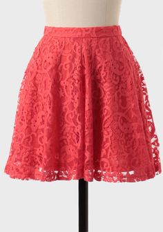 Great color & love the lace~ would be cute paired w/ a cream cami/cardigan and flats