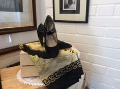 Next-Mary-Janes-in-black-leather-and-suede-size-6-39..UP FOR AUCTION on  http://stores.ebay.co.uk/Karens-Vintage-Point