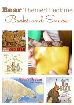 A bear themed book list perfect for bedtime read-alouds AND a yummy and healthy beary bedtime snack for kids!