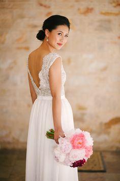 Wedding Gown by Jaimie Sortino    On Style Me Pretty: http://www.StyleMePretty.com/australia-weddings/2014/02/18/whimisical-adelaide-hills-wedding/ Photography: Luke Simon