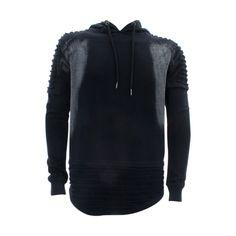 Floose - Men's F.Terry Scallop Hood With Zip Shirt - Black