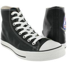 half off 6e998 76b2b Converse Mens CHUCK TAYLOR LEATHER HI black sneakers 1s581 m